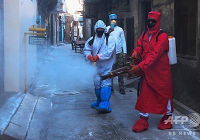 路上の消毒剤散布、コロナ除去に効果なし 健康上のリスクも WHO 写真8枚 国際ニュース:AFPBB News