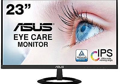 Amazon.co.jp: 【Amazon.co.jp限定】ASUS フレームレス モニター 23インチ IPS 薄さ7mmのウルトラスリム ブルーライト軽減 フリッカーフリー HDMI,D-sub スピーカー VZ239HR: Personal Computer
