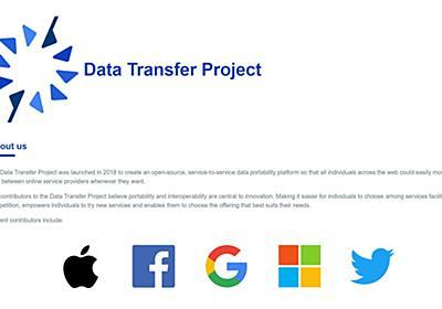 AppleがGoogle、Microsoft、Facebook、Twitterが立ち上げたデータ転送プロジェクト「DTP」に参加 - ITmedia NEWS
