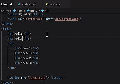 Visual Studio Code入門 (全13回) - プログラミングならドットインストール