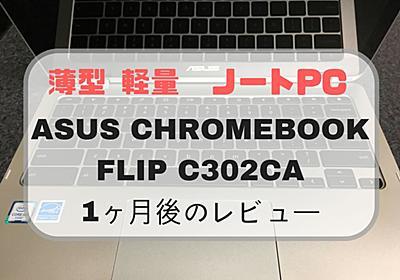 【レビュー】ASUS Chromebook Flip C302CA DHM4を購入してから1ヶ月経ったので感想を書く【軽量薄型ノートPC】 - Monogamaの地獄の釜のフタ
