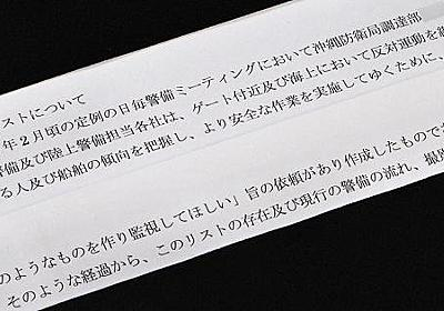 辺野古反対派リスト「国が作成依頼」 警備会社の内部文書を入手 - 毎日新聞