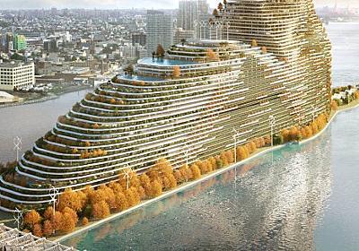 二酸化炭素を食べる超高層ビル構想。ニューヨークの温室効果ガス排出量規制を受け提案(アメリカ) : カラパイア