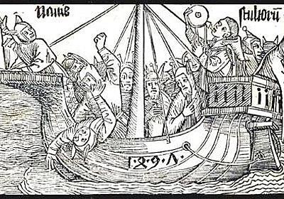 ブラント作の風刺文学「阿呆船」。あらゆる愚者たちが阿呆国を目指して航海する物語 : メメント・モリ -西洋美術の謎と闇-