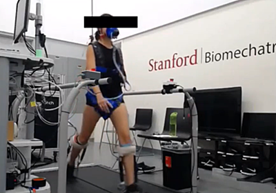 通常より40%速く歩ける外骨格システム スタンフォード大学が開発