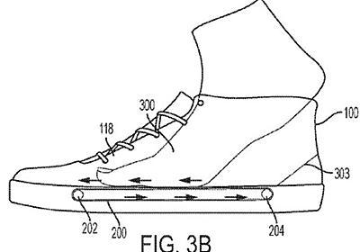 ナイキ、ベルトコンベアで足を引き込む靴の特許出願--靴べらは無用の長物に - CNET Japan