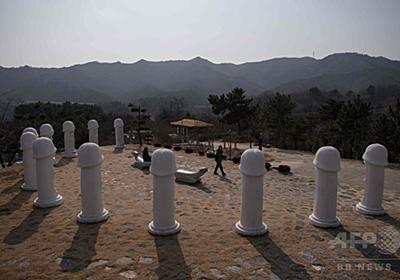 「大砲」は日本に照準 平昌五輪会場近くの「ペニス公園」 写真5枚 国際ニュース:AFPBB News