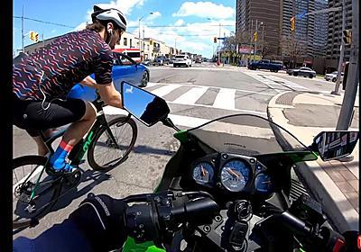 これどっちが悪いの? 交差点で自転車とバイクが接触 事故映像きっかけに海外で大激論 - ねとらぼ