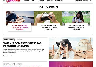 Shakey – WordPress Theme Review