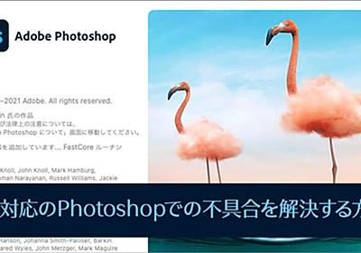 Apple M1対応のPhotoshopでの不具合、movファイルが読み込めない、プラグインが使用できないを解決する方法 | コリス