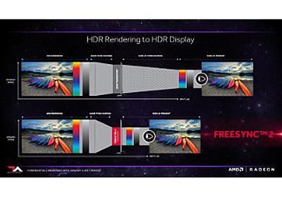 AMD、HDR時代のゲームプレイに向けたディスプレイ技術「FreeSync 2」発表 | マイナビニュース