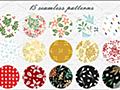 商用利用OK!クリスマス・秋冬のデザインにぴったりなシームレスのかわいいパターン素材 -Holiday Patterns | コリス