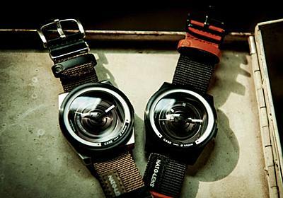 カメラじゃないよ時計だよ!広角レンズみたいなデザインウォッチ | &GP