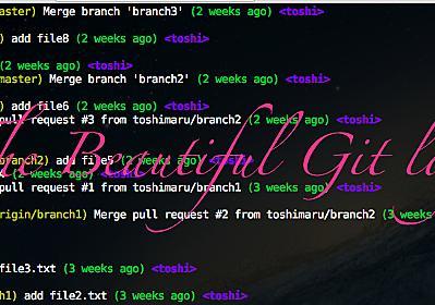 美しき git log --graph のエイリアス - Hack Your Design!