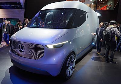 天井にドローン搭載 ベンツが提案する未来の宅配用コンセプトカー - ITmedia NEWS