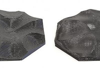 3Dプリント造形物の表面を滑らかにするスライス手法   3DP id.arts