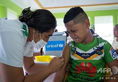 はしか流行で緊急作戦中のサモア、陰謀説広めた反ワクチン活動家を逮捕 写真1枚 国際ニュース:AFPBB News