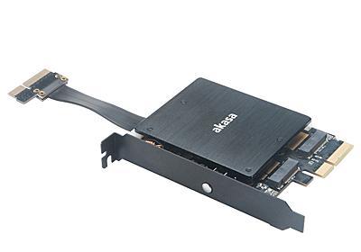 PCIe x4コネクタを2基備えたNVMe SSD増設カードがAkasaから、発光機能あり - AKIBA PC Hotline!