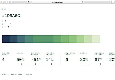色のセンスがない人でも大丈夫、色を段階的に変化させるカラーパレットを簡単に作成できる便利ツール | コリス
