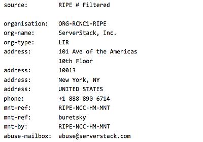 IPアドレスから管理者情報を特定する方法 - はてな村定点観測所