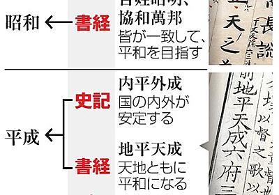 新元号、初めて日本の古典由来に? 漢籍とのダブル説も [平成から新元号へ]:朝日新聞デジタル