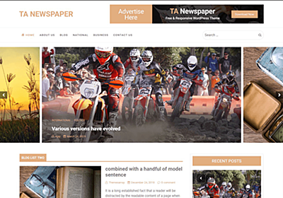 TA Newspaper – WordPress Theme Review