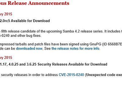 Sambaに深刻な脆弱性、Linux各社が更新版をリリース - ITmedia エンタープライズ