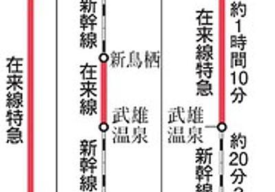 長崎新幹線、途中乗り換えは苦肉の策 22年開業死守へ:朝日新聞デジタル