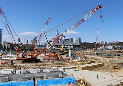 60台の重機が動く「新国立」建設現場