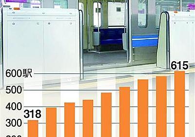 ホームドア増加も減らぬ事故 未設置駅で投身自殺急増(1/2ページ) - 産経ニュース