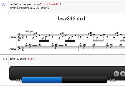 Jupyter Notebook と VSCode でバッハの平均律第1番を分析する - miso_soup3 Blog