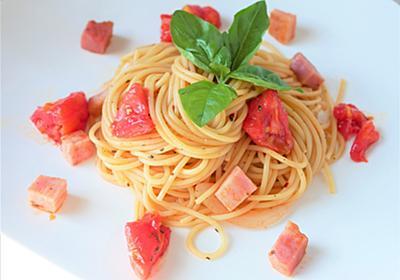 だしとスパイスの魔法シリーズ「ひき肉のトマトバジル炒め」でパスタ♪ - ふぁそらキッチン