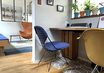 廃材で可動式ルーターボックスのお手軽DIY!書斎の配線スッキリ化 - 北欧ミッドセンチュリーの家づくり