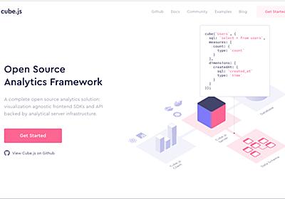 オープンソースのWebアプリケーション分析ツール「Cube.js」 | AnyPicks