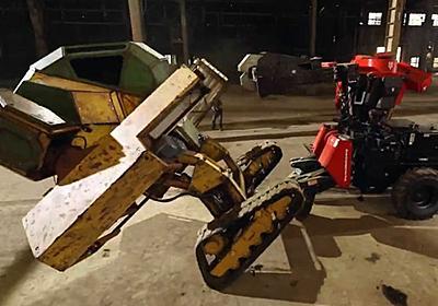 日米巨大ロボットバトル、水道橋重工「クラタス」が全力パンチで1勝をもぎ取る - GIGAZINE