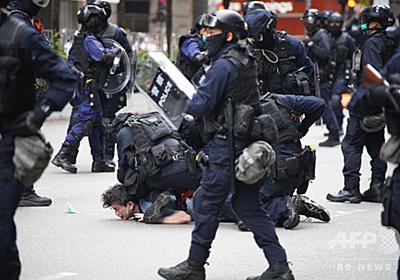 香港で「国家安全法」めぐる抗議デモ、警察は催涙弾発射 写真30枚 国際ニュース:AFPBB News