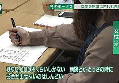 痛いニュース(ノ∀`) : 奨学金600万円返済中なのに収入が激減して生活苦な女性 月5万円の食費に批判殺到 - ライブドアブログ