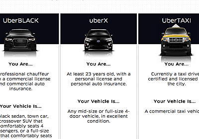 シリコンバレーによろしく: Uberの本質は高級車ではなく、低価格タクシー(uberX)にある
