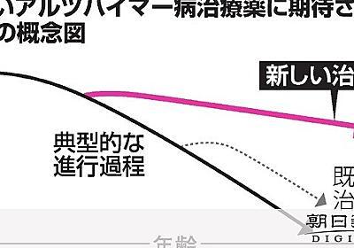 アルツハイマー病新薬「ゲームチェンジャー考えにくい」:朝日新聞デジタル