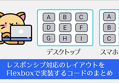 【保存版】CSS Flexboxでレスポンシブ対応のレイアウトを実装するHTMLとCSSのシンプルなコードのまとめ | コリス