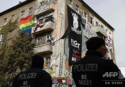 独ベルリン 不法占拠ビル立ち退き抗議デモ、暴動に発展 写真13枚 国際ニュース:AFPBB News
