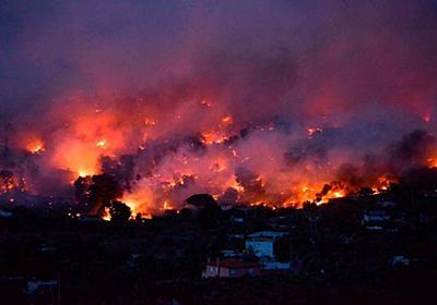 CNN.co.jp : ギリシャの山火事続く 死者74人に、住民は海に避難