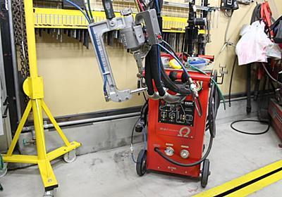 自動車鈑金で使う水冷式スポット溶接機のラジエター液の交換方法!