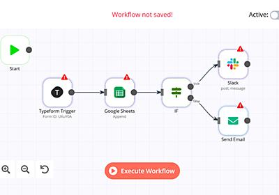 無料でIFTTTやZapierっぽく全自動連携できる「n8n」を自サーバー上に構築してみた - GIGAZINE