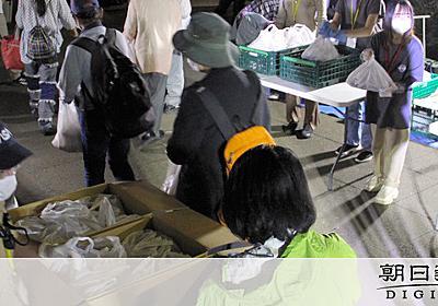 「貧困層が液状化のように」都心の公園、20分で消えた弁当400食:朝日新聞デジタル