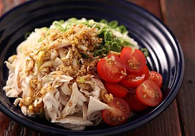 【メシ通のそうめん祭り】「ささみのよだれ鶏風そうめん」は、鶏の蒸し汁で作るレンチンピリ辛ダレがたまりません【Yuu】 - メシ通 | ホットペッパーグルメ