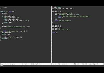 簡単なプログラミング言語を作るライブコーディング