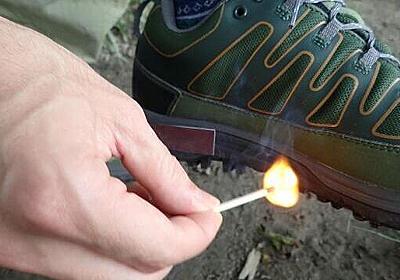 靴底でマッチを擦ると楽しい :: デイリーポータルZ