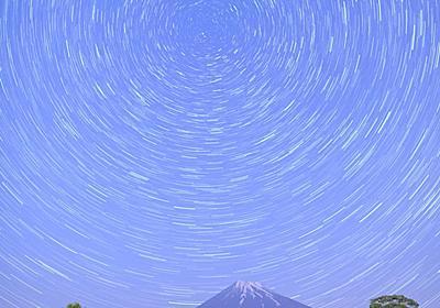 茶畑の北天、回転する星の軌跡を撮ってきました♪ - Circulation - Camera