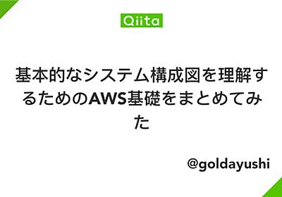 基本的なシステム構成図を理解するためのAWS基礎をまとめてみた - Qiita